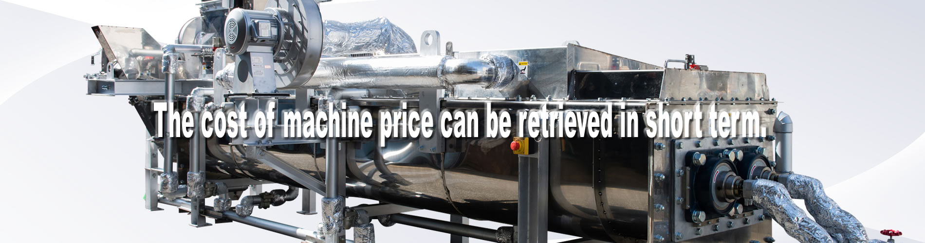 KENKI DRYER sludge dryer The cost of machine can be retrieved in short term.